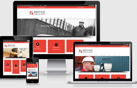 Ettrick Health & Saftey website by Harrison I.T. Services